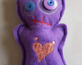 Voodoo doll, 'The Ex', witches poppet, pincushion, zombie, divorce gift, BF gift, heartbreak, UK