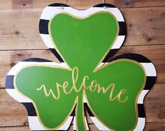 St. Patrick's Day Shamrock Door Hanger