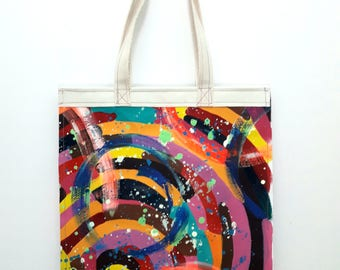 Canvas tote with original artwork