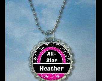 Personalized Allstar Necklace, soccer allstar,  All-stars, all-star, all-star necklace, all star prize, all star medals, all star tournament