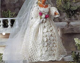 Blushing Bride  Crochet Pattern Annies Fashion Doll Crochet Club FC24-01