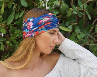 Poppie Yoga Headband / Workout Headband / Running Headband / Womens Headbands Wide Headband Yoga Head Wrap / Boho Headband / Hippie Headband