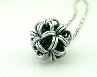 Chainmaille Jewellery, Chainmail Necklace, Japanese Ball, CHOOSE YOUR COLOR