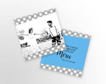 Wedding thank you - Art Deco - to customize