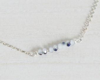Dainty Bead Bar Necklace