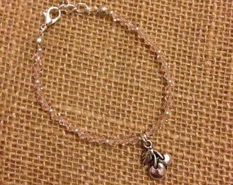 Beaded Charm Bracelet - Cherry