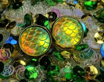 Dragon Scale Earrings-Earth