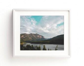 "landscape, large art, large wall art, montana, bozeman, hyalite canyon, mountains, wilderness, nature, art print, wall art -""Hyalite Canyon"""