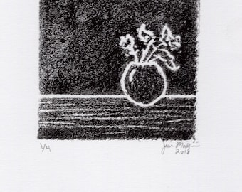 Flowers | Original Hand Pulled Print | Limited