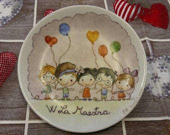 Hand Painted porcelain Wall plate
