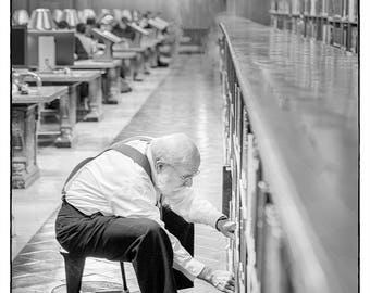 Librarian // NYC // Fine Art Photograph // Black and White // Christmas Gift // Public Library