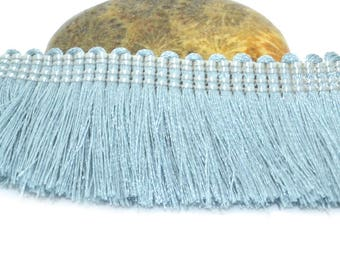 50cm braid fringe cotton grey blue 25mm