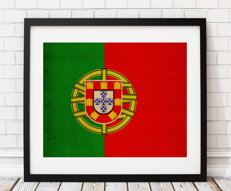 Portugal Flag Art Portugal Flag Print Flag Poster