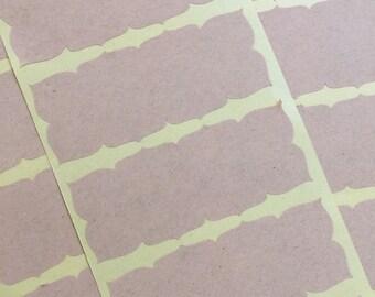 Frame Sticker, Label, Seal, Kraft Brown Adhesive Binder Organization Address 30pc