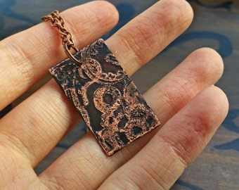 Cog & Gear Clockwork Necklace in Copper - steampunk, industrial jewelry