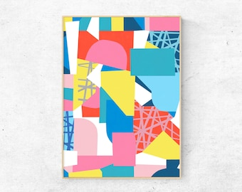 Contemporary Art Print, Abstract Print, Colourful Art