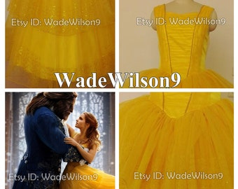 Beauty and The Beast Belle Cosplay Dress Belle Cosplay Costume Belle Princess Dress Handcraft Size