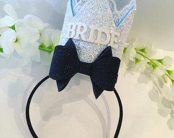 Alice Inspired Bride To Be Glitter Crown // Hen Party Crown // Bachelorette Party Crown // Bridal Shower Crown