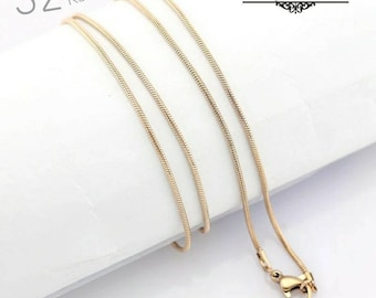 Stainless Steel / Rose Gold Plaited Chain 32 Inch / Stainless Steel Necklace Chains / Lanyard Length / Jewelry Findings, CT5033RG