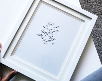 Prints | It is well with my soul Print/ Christian Print
