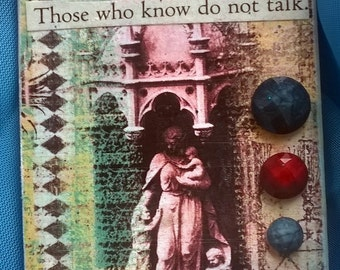 Decoupage Magnet with Poetry