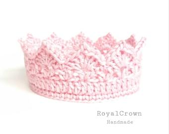 Baby Princess Crown, Newborn Crochet Princess Crown, Baby Girl Crown, 1st Birthday Baby Girl Tiara, Newborn Prop Girl, Royal Crown Handmade