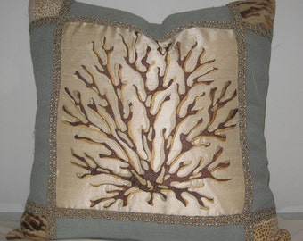 Silk Coral Pillow Cover 20x20