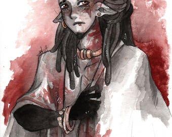 Watercolor original - Arved