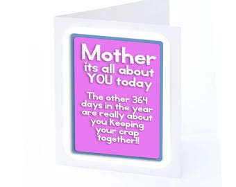 Mothers Day Card Its all about You ( 2 gifts in 1!!)