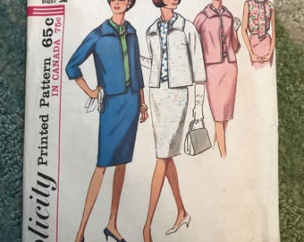 Vintage 1965 Simplicity 5882 Sewing Pattern Miss, Size 12, Bust 32