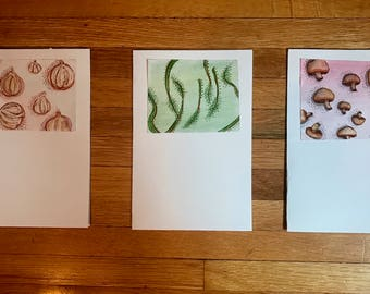Series of Three Handmade Greeting Cards