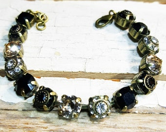 Vintage Moonlight Crystal Bracelet, Swarovski Bracelet, Multicolored Crystal Bracelet.