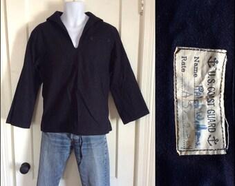 WW2 US Coast Guard Uniform Sailor Shirt looks size Large Excellent Condition