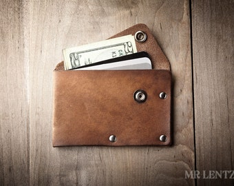 Card Wallet, Credit Card Wallet, leather card wallet, personalized wallet, mens card wallet, thin wallet, simple snap wallet  020