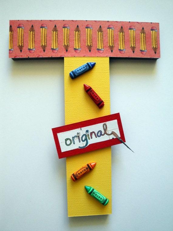 Kids Art Wall Letters Sesame Street Wall Letters Playroom