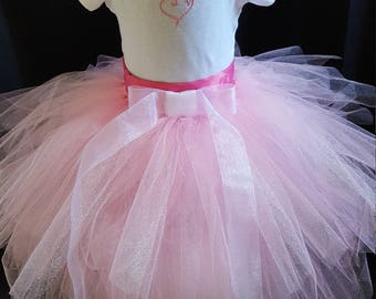 ChildTuTu and White Onesie or Tee Set