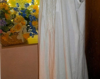 Long Victorian Nightgown, White Cotton Nightgown, Sleeveless Nightgown, Womans Summer Dress