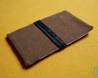 CECILIA Brown and Gold purse