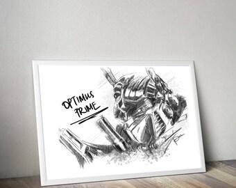 Optimus Prime Gliceé Art/Canvas Print [Limited Edition]