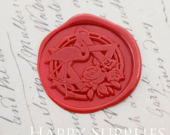 Buy 1 Get 1 Free - 1pcs Flamingo and Rose Gold Plated Wax Seal Stamp (WS378)