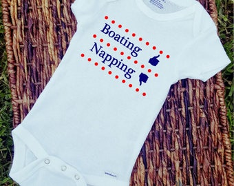 Boating and Napping/Onesie/Custom/Personalized/Gift
