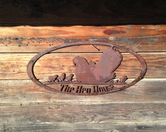 Chicken Coop rustic metal sign