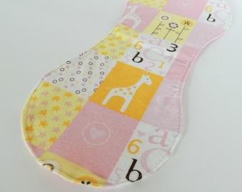 Little Cutie patchwork print burp cloth - Baby Girl - Baby Shower Gift