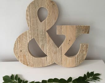 Wooden Ampersand Sign - Guestbook Alternative - Wedding Guestbook Ampersand - Wooden And Sign - Ampersand Wall Art - Guestbook