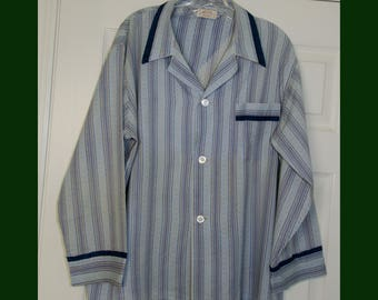 Vintage Men's Rockabilly Long Sleeved 50's Atomic Pajama Shirt