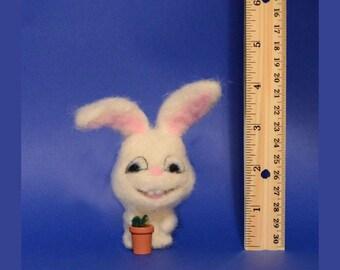 White Rabbit, Easter Ornament, Easter Gift, Shelf Sitter, Office Décor