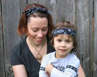 Gift for Moms of Boys / Matching Headbands / Mommy and Son / Mom Gift / Gifts for her / Boymom Rocker Headbands / Mother's Day Gift