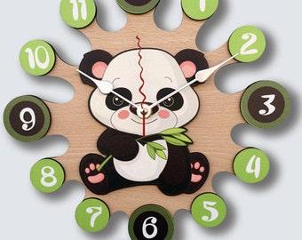 Pendulum Wall Clock Panda