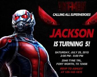 Ant-Man Invitation, Ant-Man Birthday, Ant-Man Party