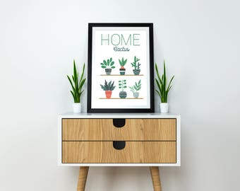 CACTUS poster / HOME plants